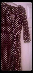 White House Black Market Print Wrap Dress